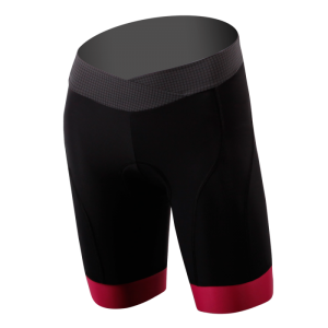 DNA Womans Black Shorts Red Cuff